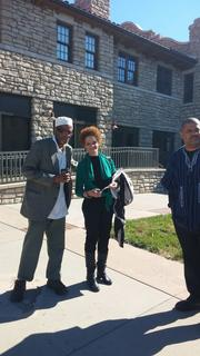 BLACK PANTHER EVENT IN K.C. WALI+KATHLEEN CLEAVER