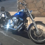 "1986 Softail named her ""Christine"" She has rebuilt top end evolution engine 1340 with new 6 speed .."