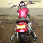 ive changed the handle bars cut the back end added lots its mine