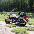 Was resting My Bike at a nice little pond in the BlackHills.