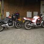 mines the black one the white one is my brothers, my little cm 200 twinstar is at back