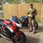 i wish i could say the ducati was mine no the ninja is ill be upgrading when i can