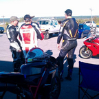 Track Day, me in the Red/White leathers.