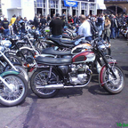 Triumph rally at the Ace Cafe,London.