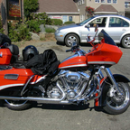 My 2009 HD SE Road Glide on my Vacation 2010.
