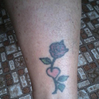 rose tattoo on my ankle