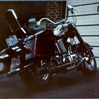 Chromed up, Stock Frame moulde & painted. with Fairing & tourpac,took them off for this look in 1982