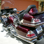 Chili (bike\'s name) has heated seats, grips, toes, legs; Nav, XM, big sound, intercom, 3K in chrome,