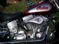 Right side, Diamond cut cooling fins, Engraved Rocker boxes, Oil tank, pipes, forks &  headlight