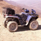 The polaris on top of a mountain in Harlan KY