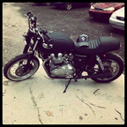 2002 Bonneville Chopped and custom. Work done by myself