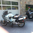 Two nearly identical touring bikes, just back from September tour to BC with my son.