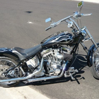 custom chrome softail. very fast