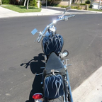 custom chrome softail. attention getter