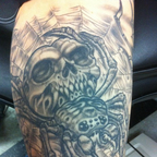 My skull spider, part of my half sleeve.
