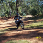 Yamaha XT250 2005, me riding iut in the bush