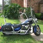 With Bags and Sissy bar. Vance & Hines pipes. 18 inch ape bar. gotta look good as you cruise.