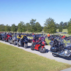 I was at a charity ride in Birmingham. The ride started at barbers motor sport speedway.
