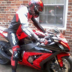 It\'s a rare thing to find a suit that matches the bike lol.