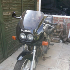 1990 Suzuki gs 500 twin fully faired black