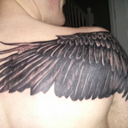 Rear of eagle tattoo