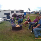 At the Conesville Biker Rodeo, that\&#39;s my trike &amp; camper in the background.