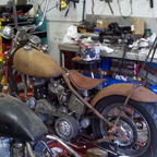 1st harley ever owned built when I was 14 pan shovel in 41 frame going through its 5 rebuild