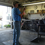 Working on a weather vane.2013