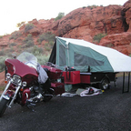 My campsite in Utah with \'06 Ultra Fat Boy