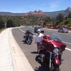 Outside Sedona, AZ with 2008 Ultra Street Glide