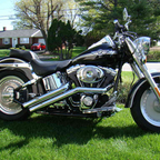 it is a 100th anniversary edition harley fatboy