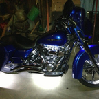 2012 Street Glide LED lighting done by Carl David Concepts in Flint Michigan