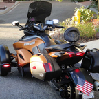 My very cool Can-Am Spyder with Corbin saddle and Givi bags.