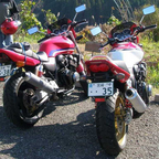 My two CB-400 Super Four\'s in Japan