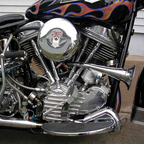 Its a panhead and its nicely detailed.