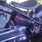 pinstripped oil tank,just picked up from paint in bakersfield