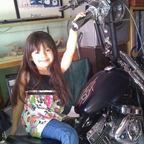 my youngest, maddison & finished bike \'\'for now\'\'