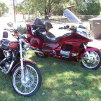 MY HARLEY AND MY GOLD WING