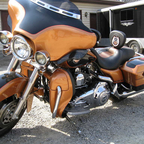 "My ""Annie"" 08 anniversary FLHX..  This is before some add on\'s.  Great bike for long rides!"