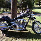 2010 Honda Fury chopper