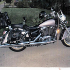 my baby, 1998 honda shadow aero 1100cc<br /><br />just drove from seattle to new york,