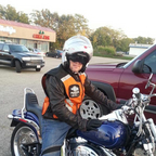 Me riding my new 2007 Harley Softail in Ohio