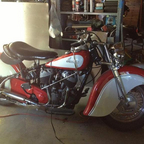 My 1947 Chief, great rider lots of fun... Want to go for a ride?  Mostly restored by myself and dad.