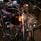THIS IS MY IRONHEAD...SPORTSTER...BEFORE SHOT...(BEFORE THE ELBOW GREASE WAS APPLIED