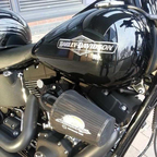 Screaming Eagle Air Filter, and my Matt Black Vance & Hines Pipes
