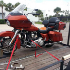 For trailering on longer rides, or even better,,  bring yours along too,,, have one?  Room for two!