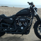 2013 HD Iron Vance and Hines exhaust Screamin Eagle intake. Handles like a sports car-Loud.