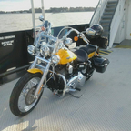 My new bike\'s first ferry ride in North Carolina!