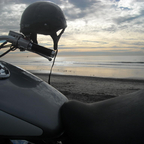 Chillin\' at beach with my bike! Wanna join me on a coastal ride?
