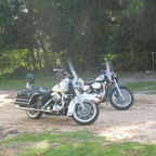 Ethell, an \&#39;03 Road King Police &amp; Riicky, a \&#39;92 Sportster